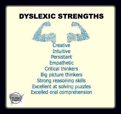 list of dyslexic strengths